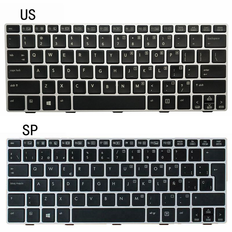 NEW US/SP LAPTOP KEYBOARD With backlight <font><b>HP</b></font> EliteBook <font><b>810</b></font> <font><b>G1</b></font> G2 G3 image