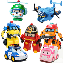 Robocar coreia robô crianças brinquedos transformação anime figura de ação super asas poli brinquedos para crianças playmobil juguetes