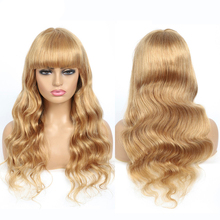 wholesale wigs body wave wig #27 ombre brown human hair wig with bangs honey blonde wig Brazilian human hair wigs for women