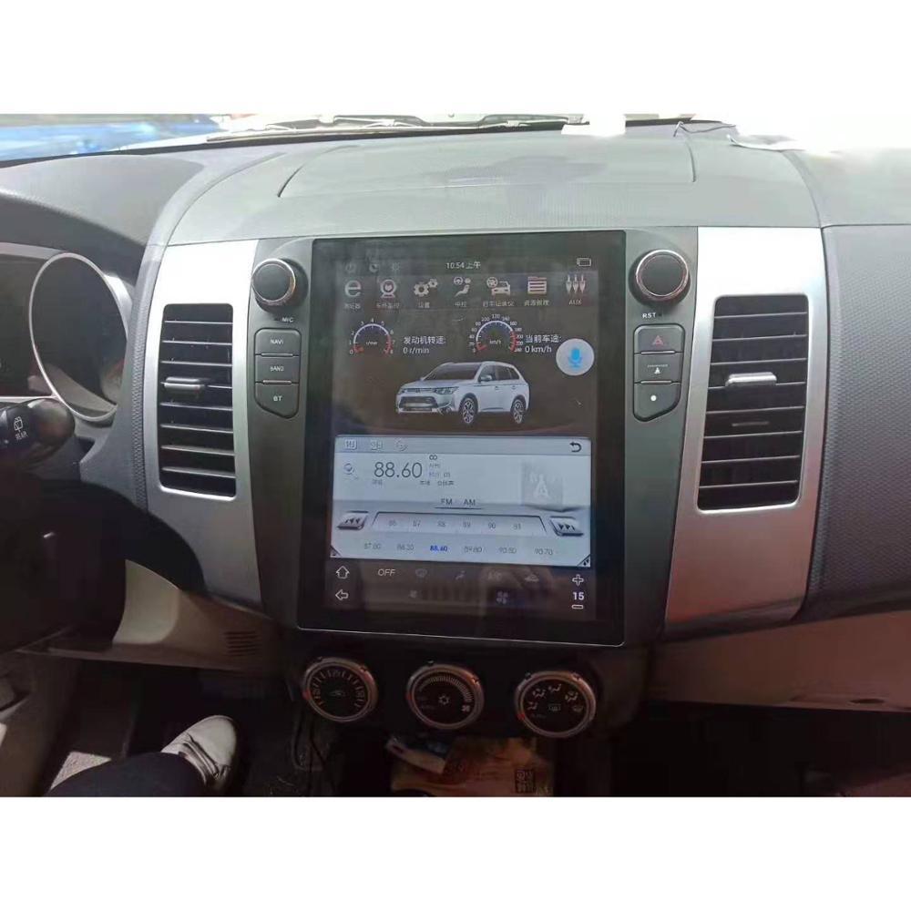 Chogath 10.4inch Car Multimedia Player Android 8.1 Car Gps Navigation 4G+32G Tesla Screen For Mitsubishi Outlander 2006-2014
