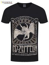 Led Zeppelin Herren T-Shirt Madison Square Garden 1975 schwarz New Tops 2019 Print Letters Men Black Cotton