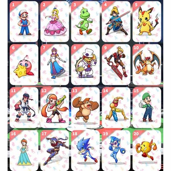 The Games card Switch NFC ntag215 switch mario NS Suitable super smash bros ultimate