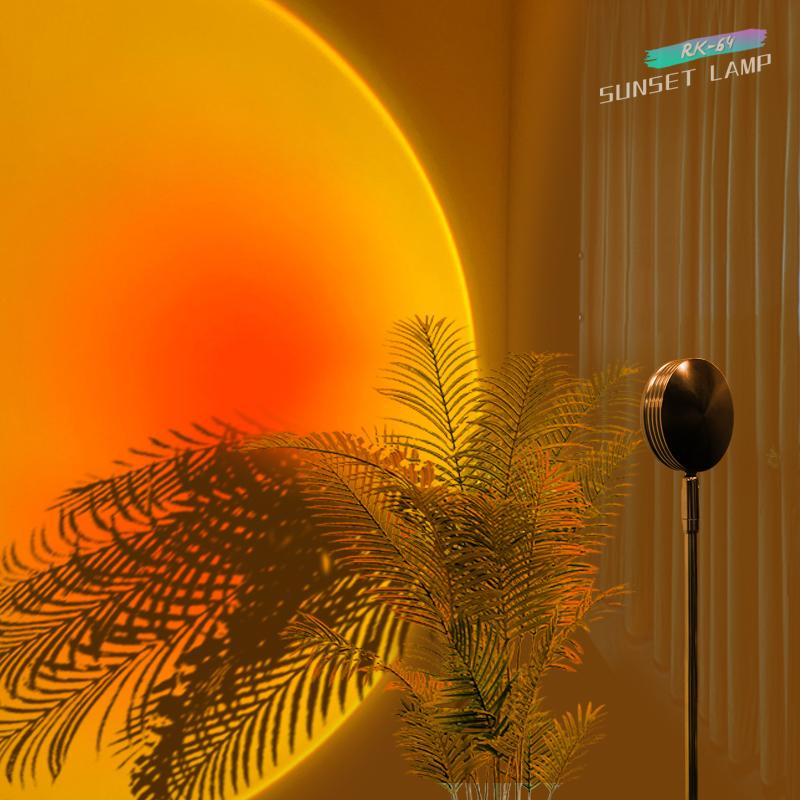 Sunset Lamp Projector Led Night Light aesthetic room decor fancy lighting Wall Decoration Sunset Projection Lamp sun catcher