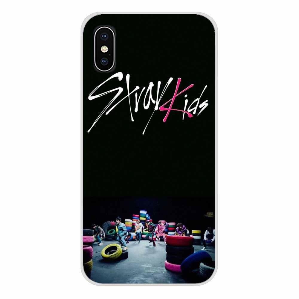 สำหรับ Apple iPhone X XR XS MAX 4 4S 5S 5C SE 6 6S 7 8 plus ipod touch 5 6 โทรศัพท์มือถือผิว stray เด็ก hyunjin chan woojin