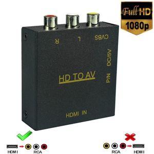 HDMI в RCA, 1080p HDMI в AV 3RCA CVBs композитный видео аудио конвертер адаптер поддерживает PAL/NTSC для ТВ-палки, ПК, ноутбука