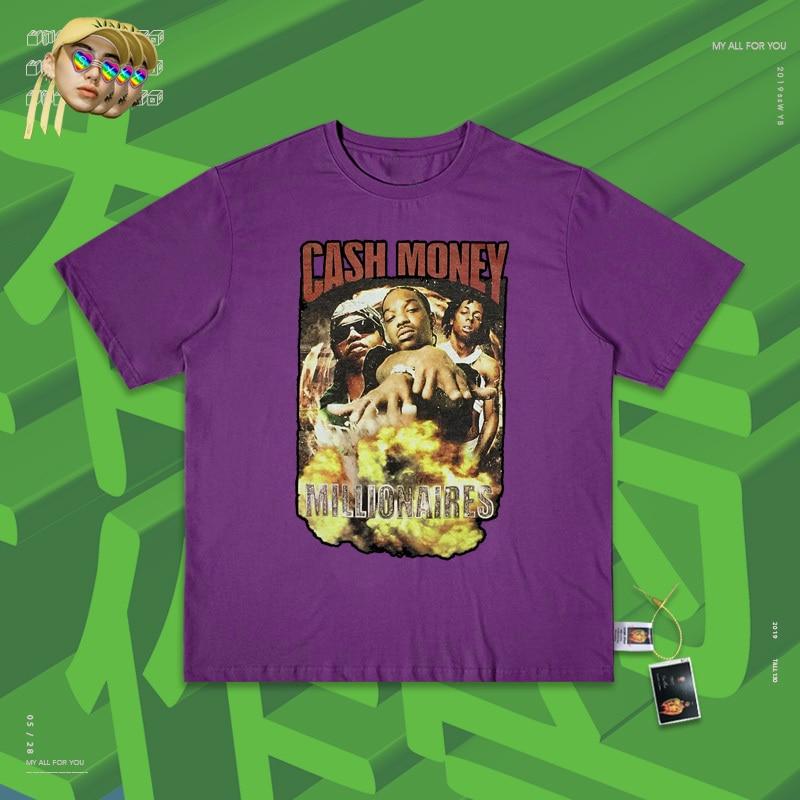 Rap hip hop coisa costa da guerra bandit gang rap grupo combinar usado manga curta t camisa rock vento homem e mulher preto medo - 2