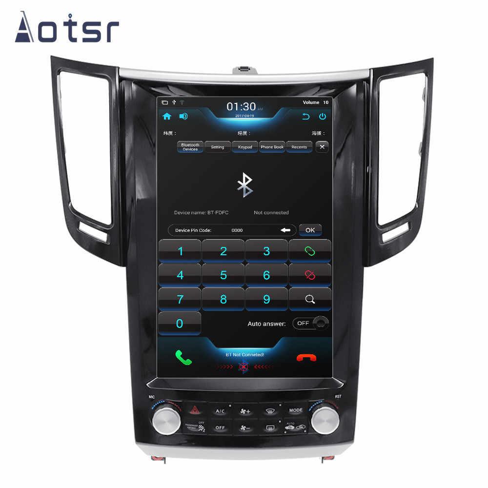 Android 8,1 Tesla Stil GPS Navigation Für Infiniti FX FX25 FX35 FX37 2007 + Auto Radio Stereo Vertikale Bildschirm Multimedia player