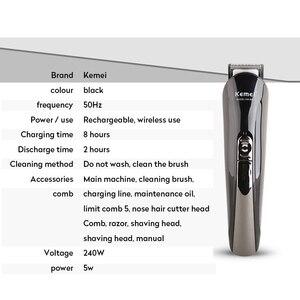 Image 5 - Kemei tondeuse à cheveux électrique 6 en 1, outil de coiffeur tondeuse à barbe pour hommes, coupe de cheveux, nez, oreilles, outil de coiffeur