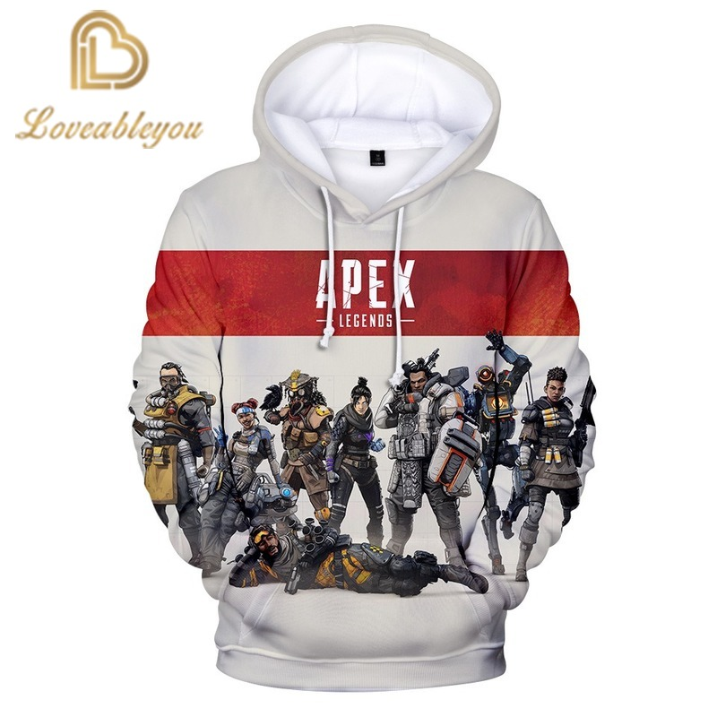 3D Print Apex Legends Game Character Printing Hoodies Sweatshirts Popular Long Sleeve Hoodedies Women Men Leisure Tops