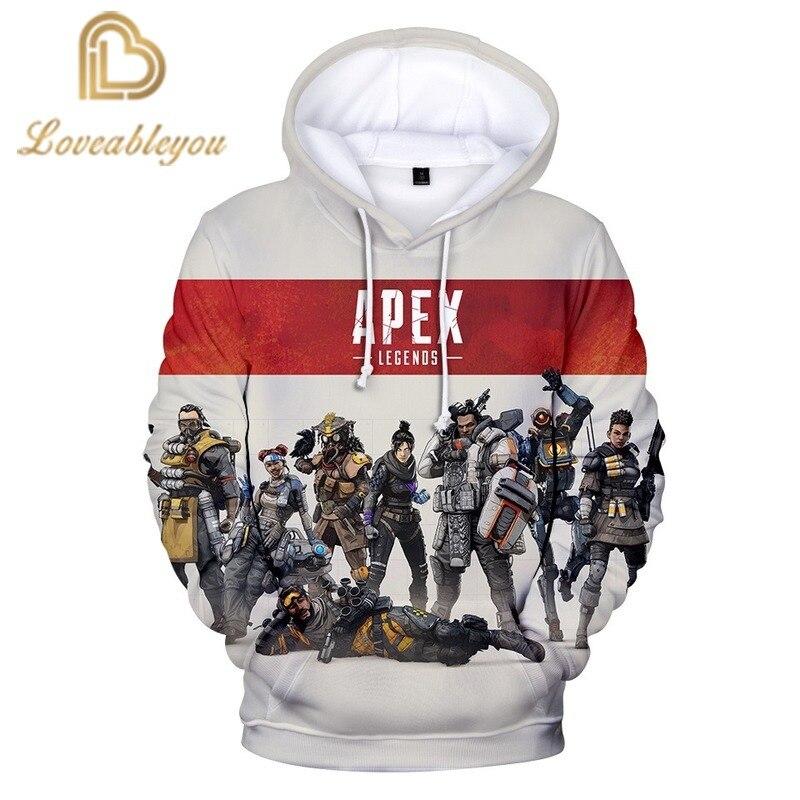 3D Print Apex Legends Game Character Printing Hoodies Sweatshirts Popular Long Sleeve Hoodedies Women Men Leisure Tops
