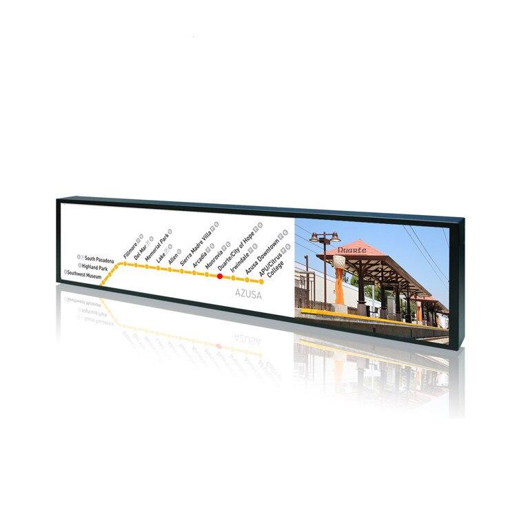 Affichage de publicité d'affichage à cristaux liquides de Type de barre tendue par écran Ultra large de moniteur de wifi de 60 pouces pour l'étagère de supermarché de café - 3