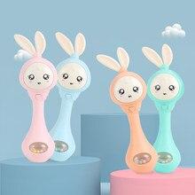 QWZ müzik yanıp sönen kum çekiç bebek diş kaşıyıcı çıngıraklar oyuncak eğitim güvenlik malzemesi el çan erken öğretici oyuncaklar bebek hediye için