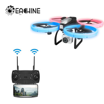 Eachine E020 LED WIFI FPV With 4K/1080P HD Wide Angle Camera 4CH Altitude Hold Mode RC Drone Quadcopter RTF