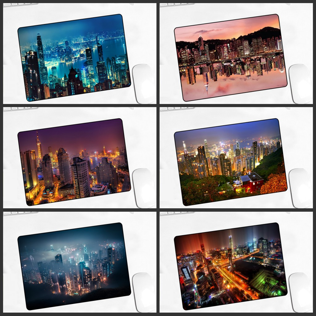 XGZ  Big Promotion Cityscape MousePads Computer Game   Player Play Mat   22X18CM DoTA 2