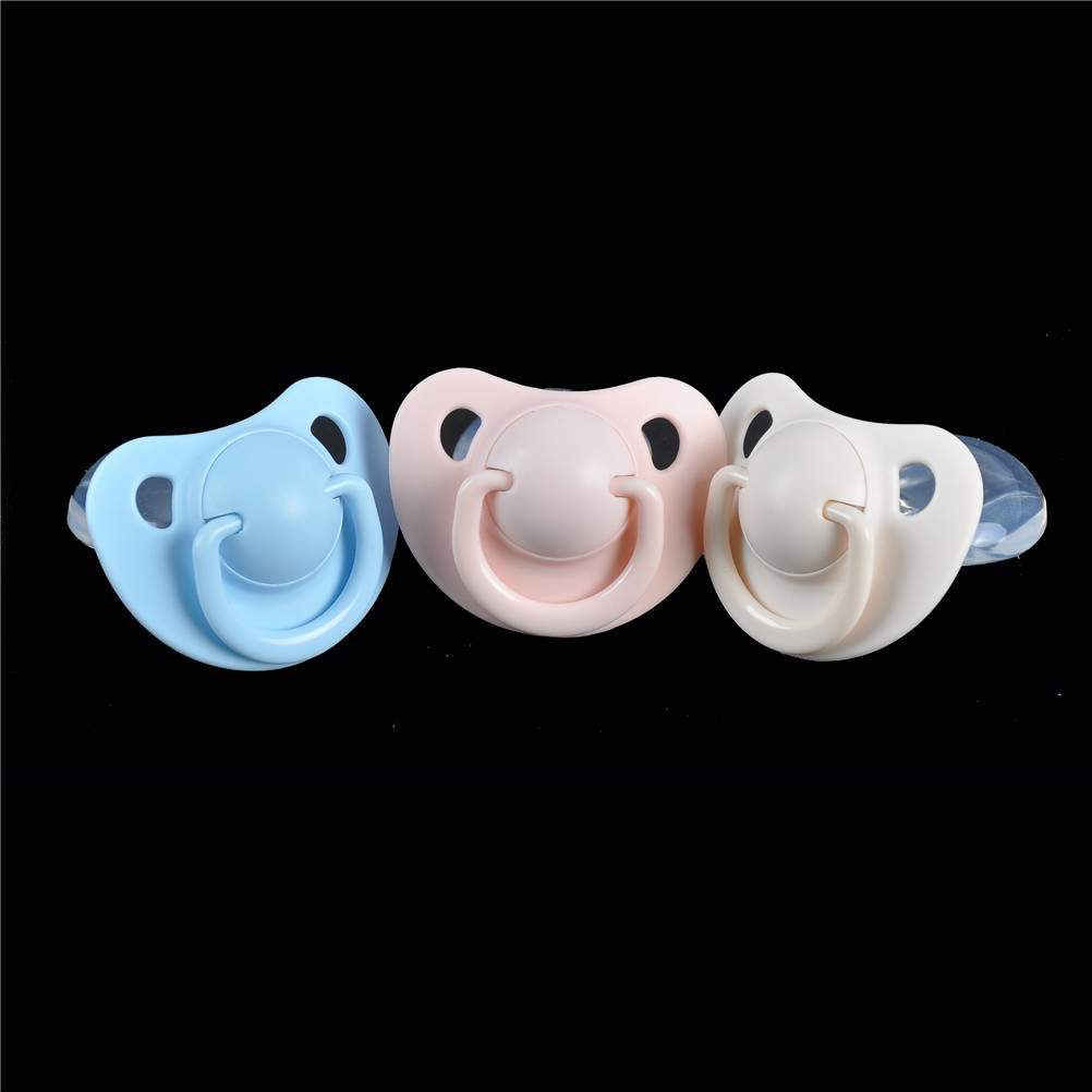 1PC Kawaii Big Adult Nibbler Pacifier Feeding Nipples Design With Back Cover Feeding Product Candy Color Adult Size