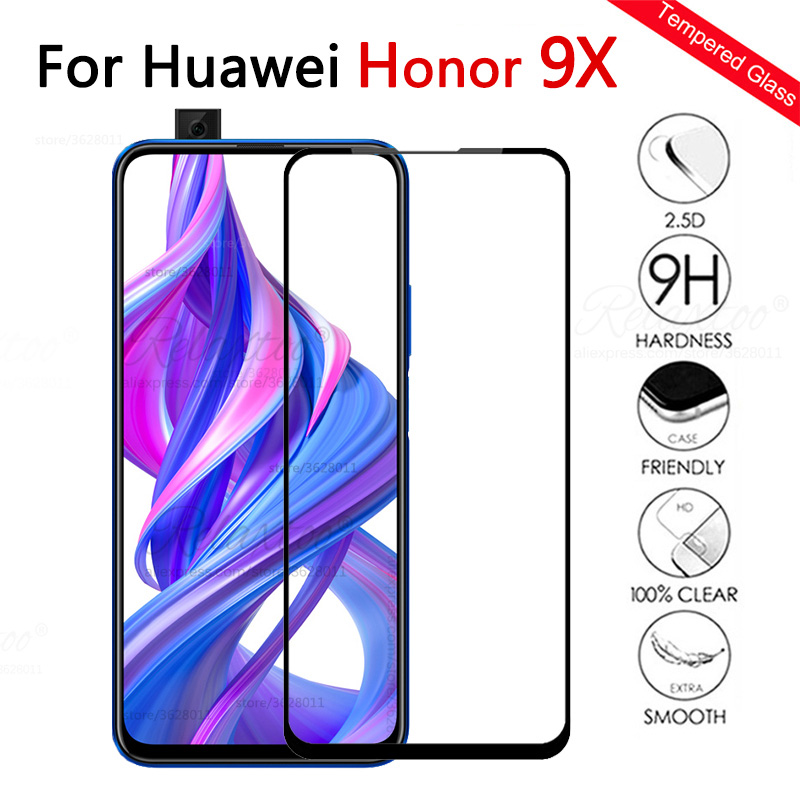 Protective Glass On The For Honor 9x Screen Protector For Honor 9x 9 X X9 Honor9x Tempered Glass Full Cover Safety Touch Film 9h