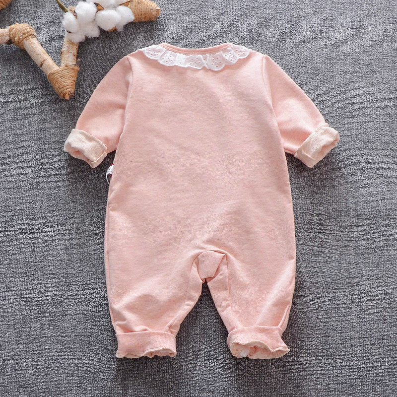 One-piece Women's Clothes Spring Clothing Baby Casual 6 Months Single Breasted Romper 9 CHILDREN'S Long Sleeve Crawling Clothes