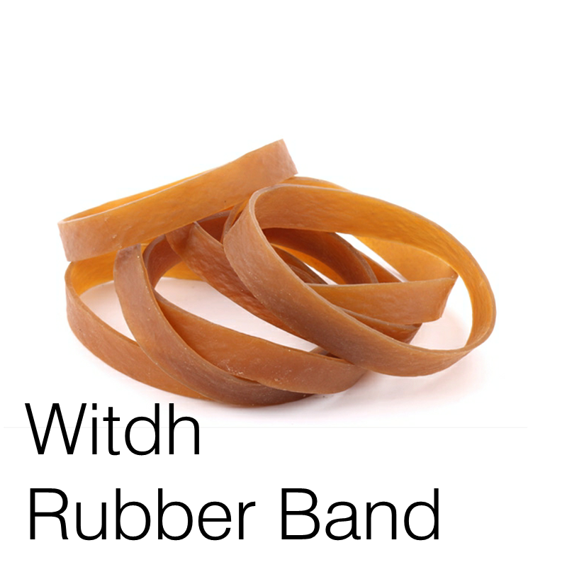 New Big Rubber Band Yellow 100x10mm Stretch Bracelet Wad Office Document Elastic Band
