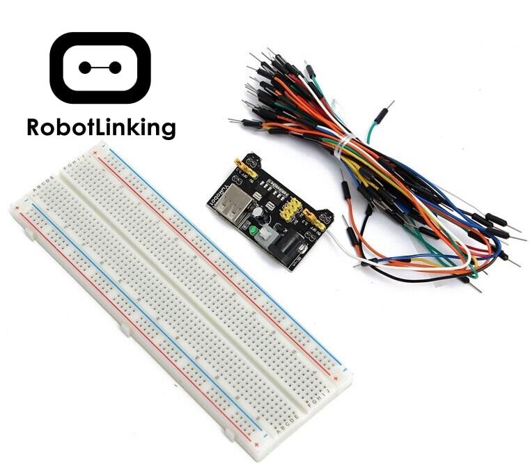 830 points Solderless Prototype Breadboard with power module 3.3V//5V
