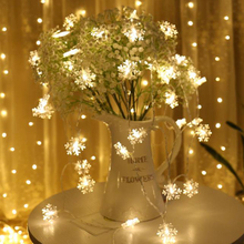 LED Light String Creative Fairy Tale World Snowflake Battery-Powered Hanging Christmas Tree Holiday Party Home Decoration