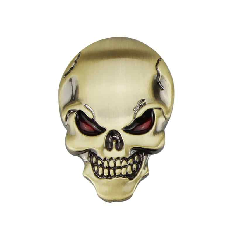 1PC Auto 3D Duivel Schedel Metalen Sticker Bewegwijzering Demon Skull Cool Zinklegering Sticker Auto Logo Badge Emblem Decal auto Styling