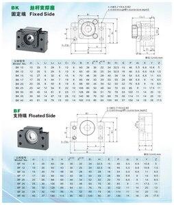 Image 3 - UKR เรือ 3 ชุด ballscrew SFU1605 350/650/1050 มม.+ 3 ชุด BK/BF12 + 3 ชุด SBR20 Linear ราง + 3 Couplers สำหรับ CNC Router Milling