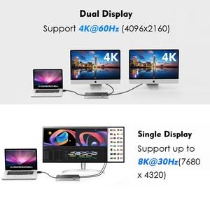 Image 2 - [インテル認定] サンダーボルト 3 USB C デュアル 4 18k @ 60 hz ドッキングステーションビデオディスプレイ USB C 電力供給 macbook pro の 60 ワットまで