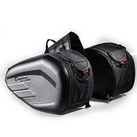 GHOST RACING 58L Waterproof Motorcycle Saddle Bag Universal Moto Riding Knight Helmet Bag Tail Luggage Suitcase Tank Backpack