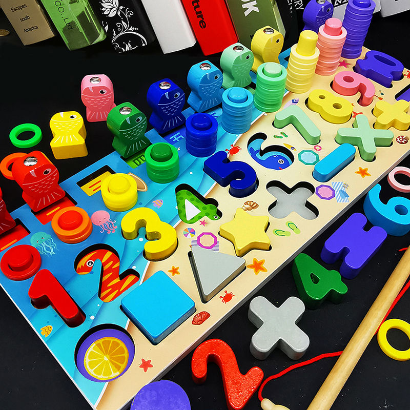 Math Toys Wooden Montessori Learning Baby Educational Toys For Children Wood Preschool Toys For Children Educational Montessori