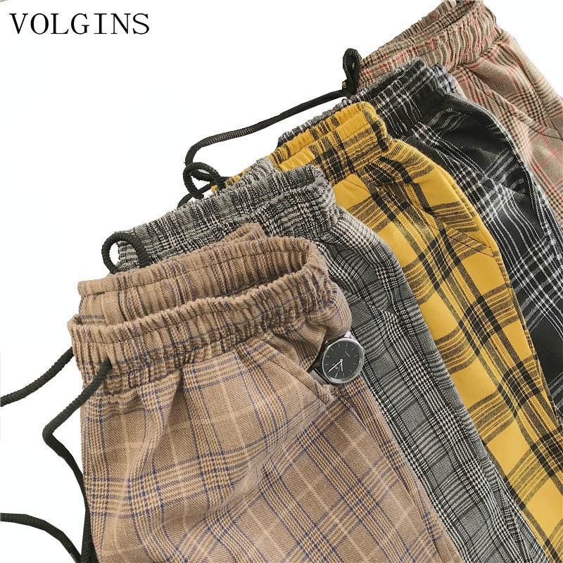 Streetwear Cotton Harajuku Plaid Pants For Men Women Trousers 2020 Woman Harem Pants Spring Autumn Causal Pants Plus Size