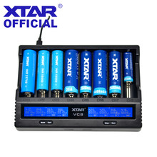 Ładowarka XTAR 18650 VC8 VC4 VC4S VC2 VC2S ładowarka USB wyświetlacz do akumulatorów litowo-jonowych 20700 21700 18650 ładowarka