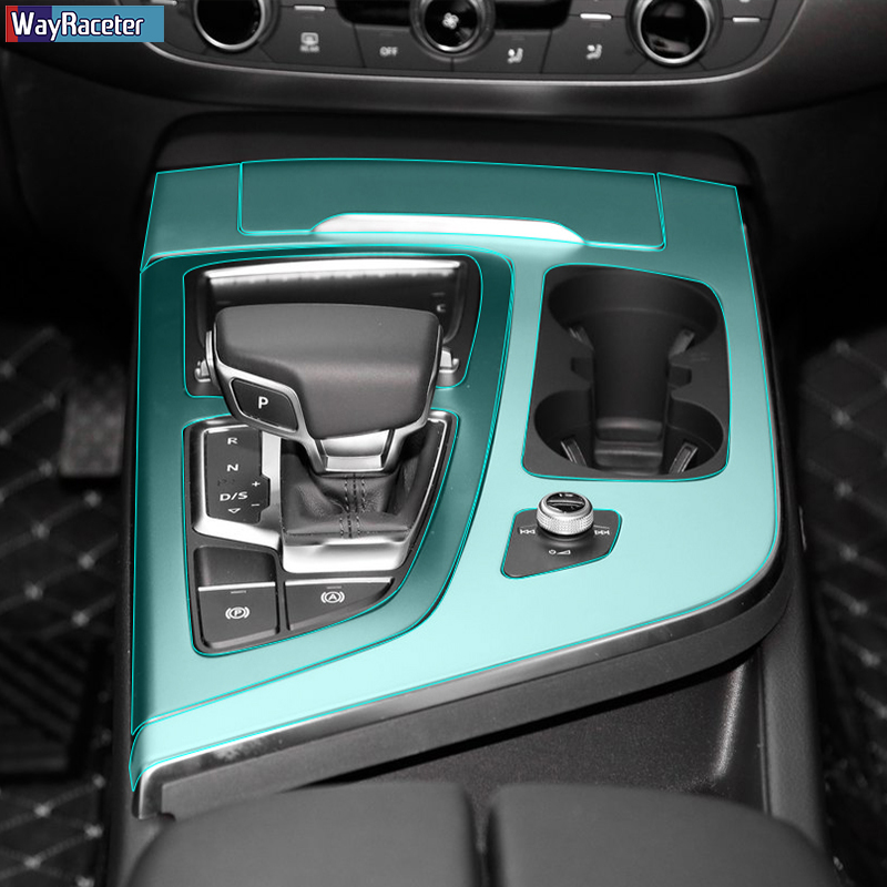 Car Interior Central Console Dashboard Gear Panel TPU Sticker Protective Film For Audi Q7 4M 2016 2017 2018 2019 Accessories