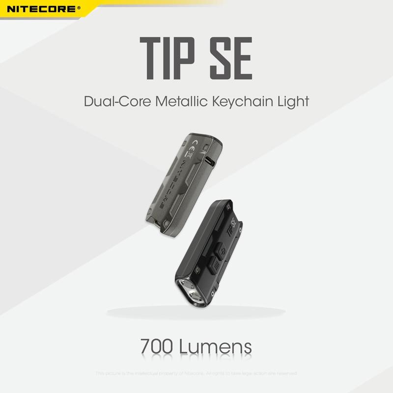 NITECORE TIP SE LED 700L Rechargeable Keychain Flashlight