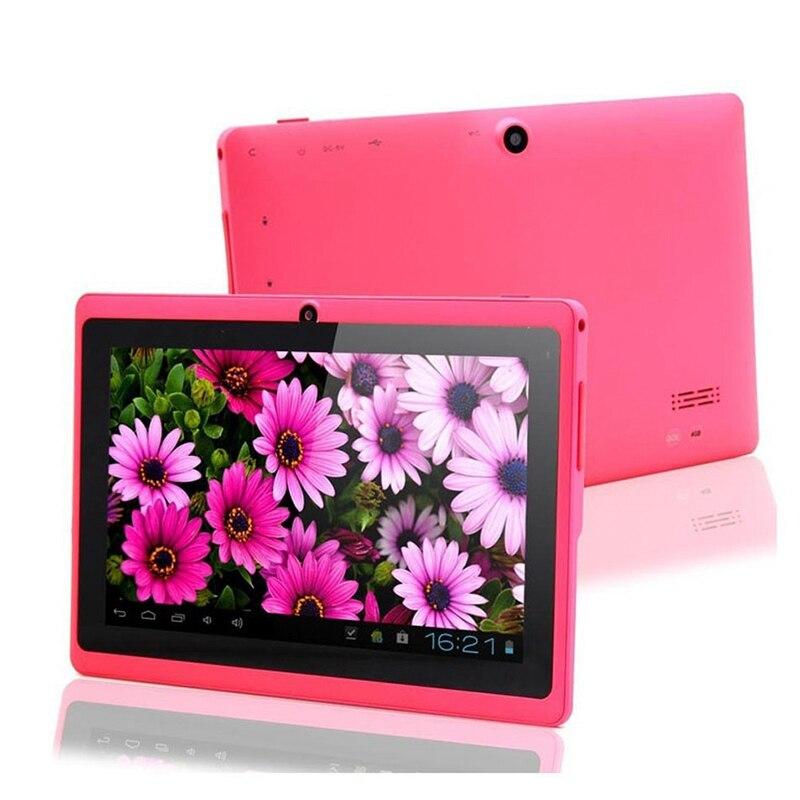 7 pouces enfants tablette Android Quad Core double caméra WiFi éducation jeu cadeau pour garçons filles, rose - 3