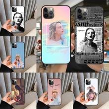 Чехол для телефона Singer Swift Taylor, чехол для iphone 5 5S 6 6S PLUS 7 8 11 12 mini X XR XS PRO SE 2020 MAX, черный трендовый чехол