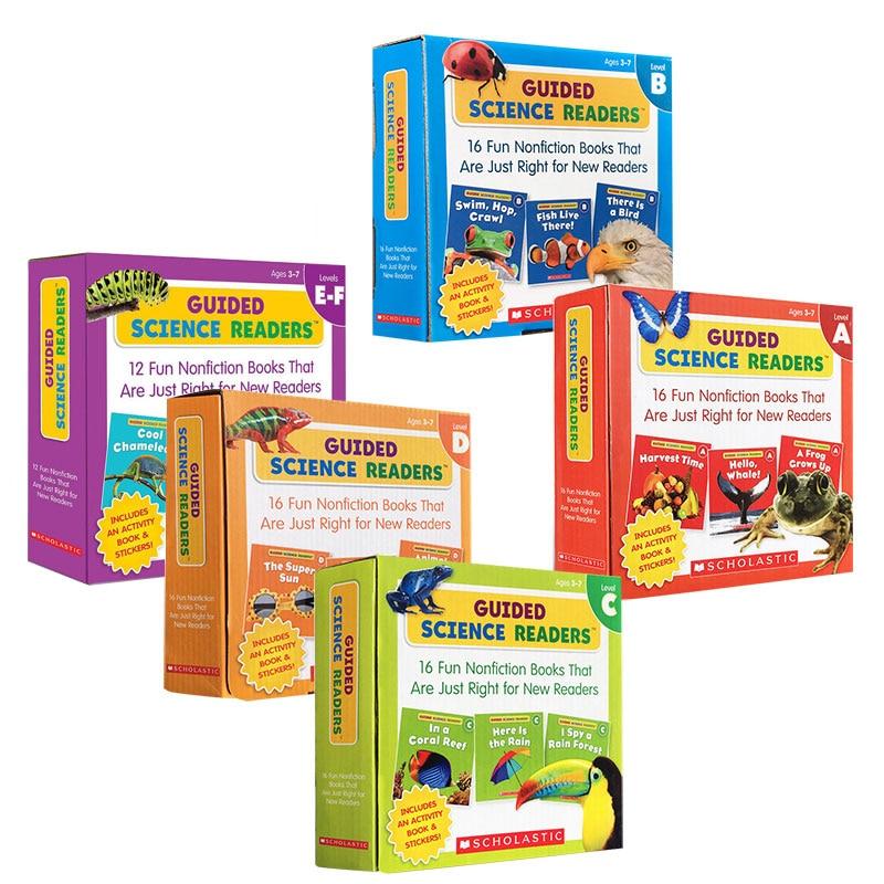 5 шт./комплект, английские школьники с гидом и гидом, ACDEF, детские книги для студентов, детские книги для изучения английского языка