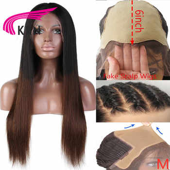 KRN Fake Scalp Wig Straight 13x6 Lace Front Human Hair Wigs pre plucked180% Density Brazilian Remy Human Hair Wigs Middle Ration - DISCOUNT ITEM  40% OFF All Category