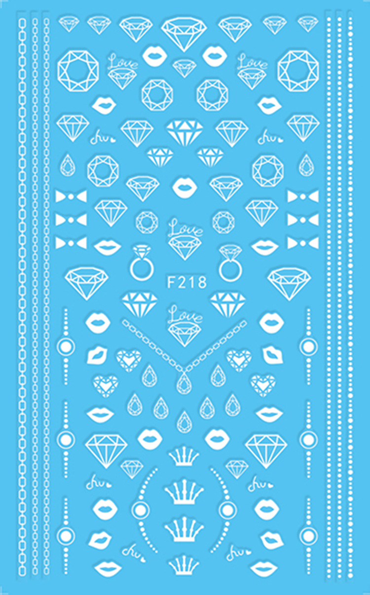South Korea Hipster Nail Sticker Punk Nail Decals Gum Paper Sticker Long Arrowhead Feather Pattern Applique F215