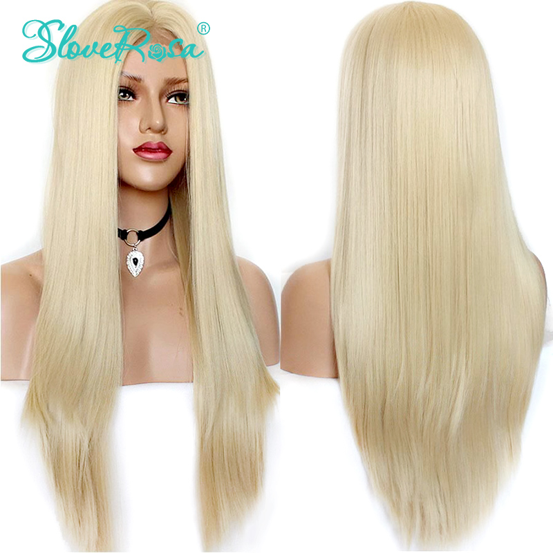 Ombre 613 Blonde Wig Lace Front Human Hair Wigs Brazilian Remy Straight Hair Transparent Lace Pure