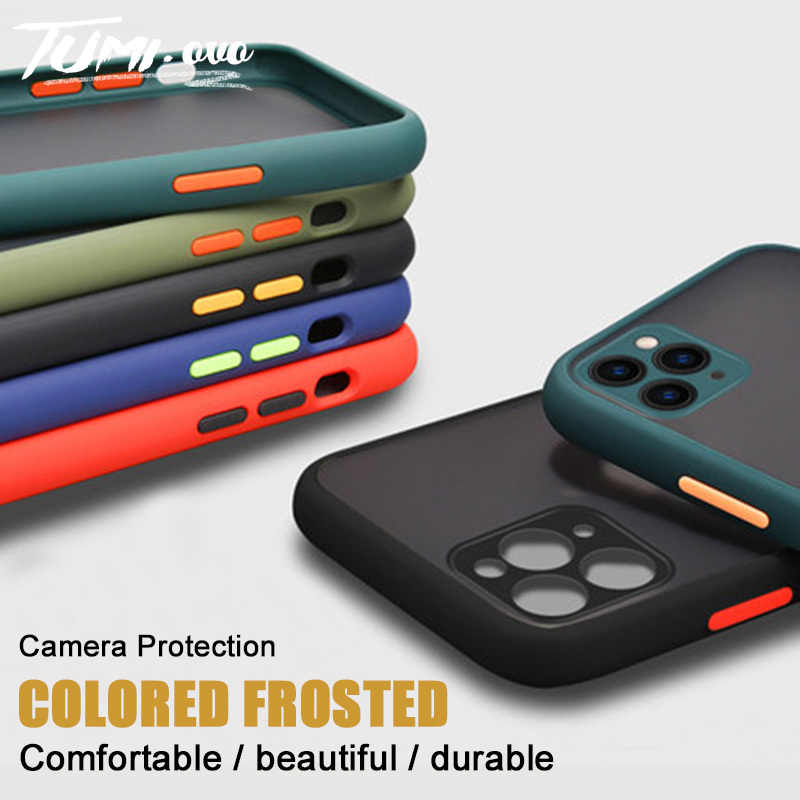 Shockproof Armor Case For iPhone 11 Matte Camera Protection Translucent Cases For iPhone 11 Pro Max XR XS X 8 7 6S 6 Plus Cover