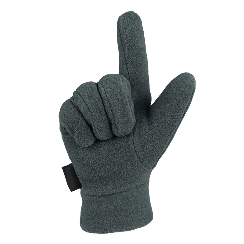 Man Outdoor Riding Fleece Gloves Winter Light Thermal Sports Full Finger Glove Running Jogging New