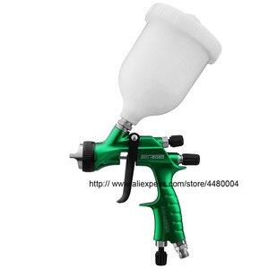 Image 2 - Hohe Qualität Spray Gun Gravity Spritzpistole 1,3mm Düse 600cc Kunststoff Topf Ideal Auto Malerei Werkzeug