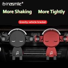 Soporte magnético de teléfono de coche con soporte magnético de gravedad, soporte de ventilación de aire con dibujos animados, para todos los teléfonos móviles