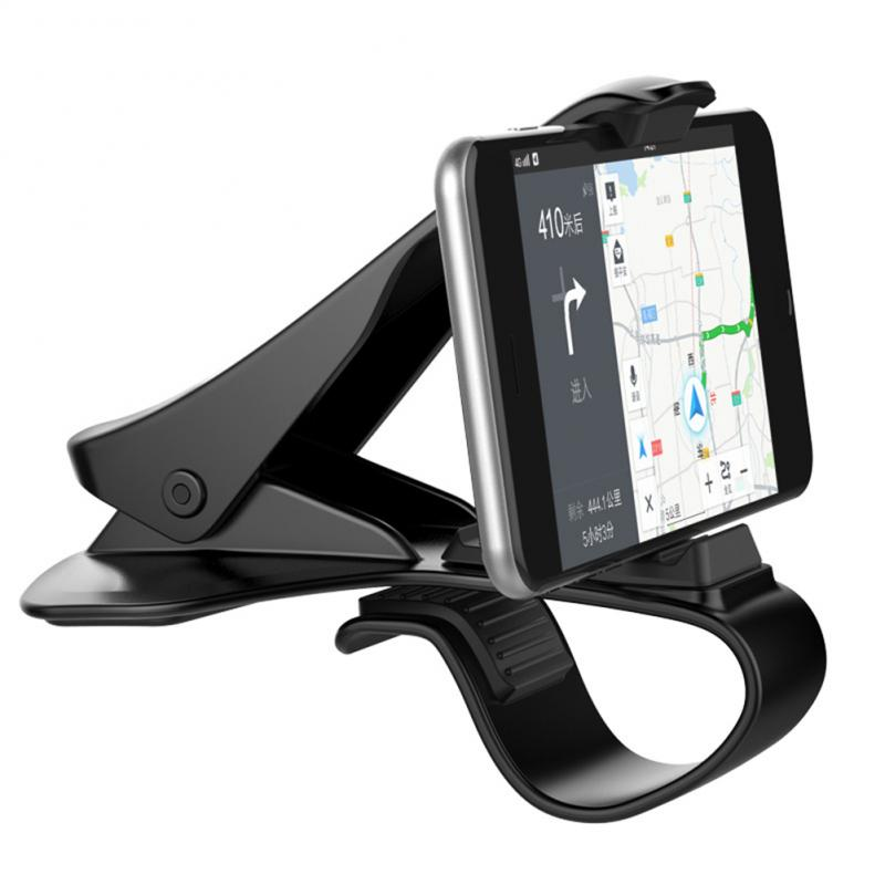 GPS Car Phone Holder Dashboard Mount Universal Cradle Cellphone Clip Bracket Mobile Phone Holder Stand For Phone In Car