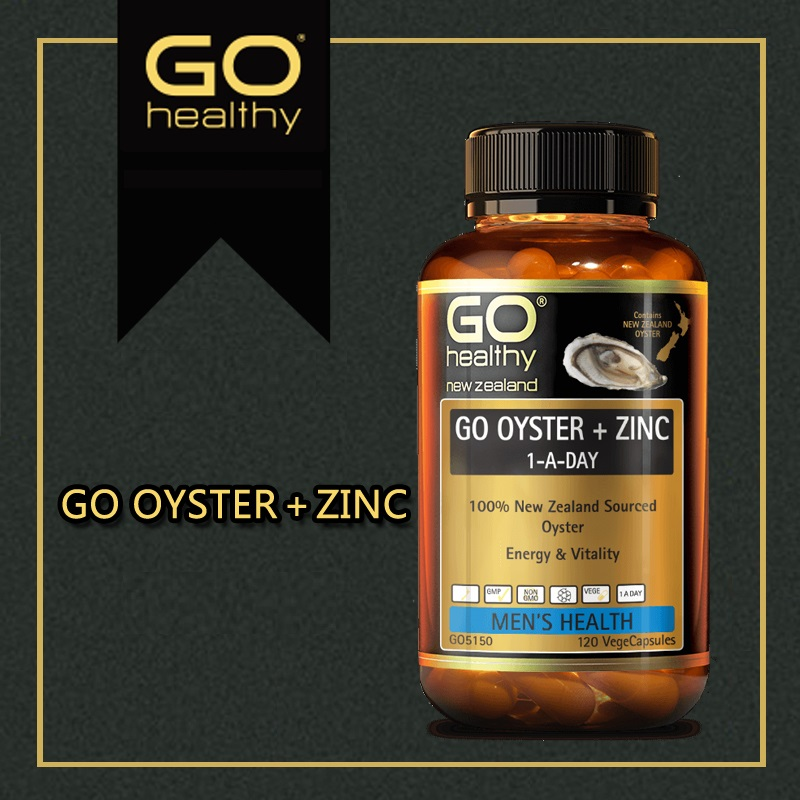 NewZealand Go Healthy Oyster Zinc Supplement 120 Capsules for Men Health Vitality Immune Support Sexual Reproductive Wellbeing 4