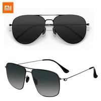 Xiaomi Mijia Klassischen Quadratischen Sonnenbrille Pro TAC Polarisierte Linsen Gläser Retro Licht Rahmen Schraubenlose UV Schutz für Männer Frauen