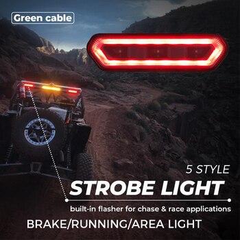 UTV Universal Brake Tail Light Roll Bar Black Cover Red Chase For Yamaha Viking Wolverine For Honda Talon 1000R 1000 For Polaris