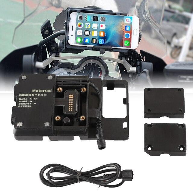 """USB נייד טלפון אופנוע ניווט סוגר USB טעינה הר תמיכה עבור BMW R1250GS עו""""ד R 1250GS עו""""ד R 1250 GS הרפתקאות"""