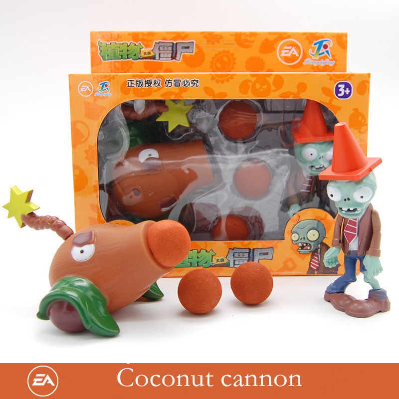 Genuine Plants Vs. Zombie Toys 2 Complete Set Of Boys Large Ejection Soft Silicone Anime FigureChildren's Dolls With Box