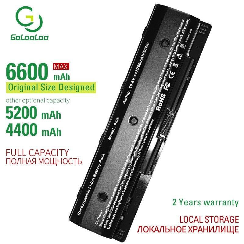 Golooloo 6 Cells Laptop Battery PI06 For Hp Envy 15 17 TouchSmart 15 17 Pavilion 15 17 HSTNN-LB40 LB40O LB4N LB4O UB4N PI09
